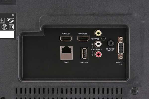 HDMI入力端子を2系統搭載